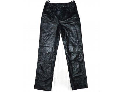 KOŽENÉ dámské černé měkké kalhoty UK 12