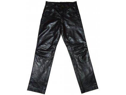 KOŽENÉ dámské černé měkké kalhoty GIPSY 30 2