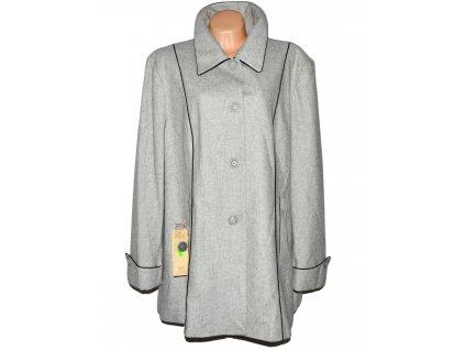 Kašmírovo-vlněný dámský šedý kabát MODINI XXXL - s cedulkou