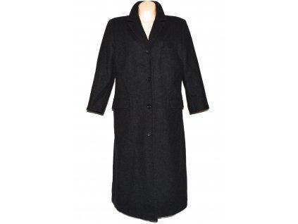 Vlněný dámský dlouhý šedý kabát C&A XXL