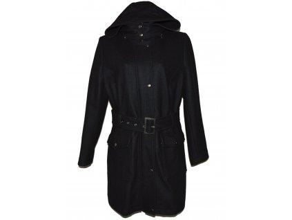 Vlněný (60%) dámský černý kabát s kapucí C&A 20/46 3