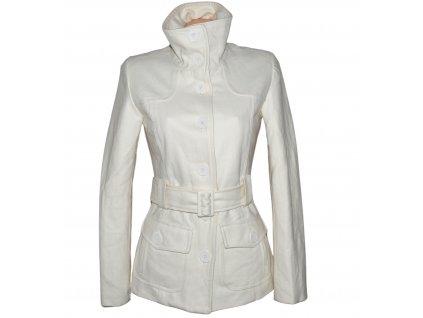 Vlněný (50%) dámský smetanový kabát s páskem Miss Private S