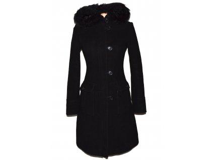 Vlněný dámský černý kabát s kapucí Clockhouse 8/34