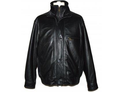 KOŽENÁ pánská černá měkká bunda na zip T 3rapper 52