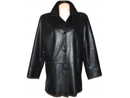 KOŽENÝ dámský černý měkký kabát CABRINI XXL