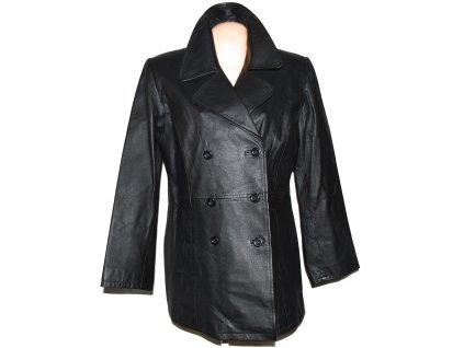 KOŽENÝ dámský černý měkký kabát 48