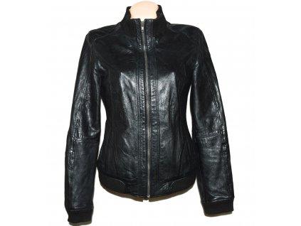 KOŽENÁ dámská černá měkká bunda Philip Russel L