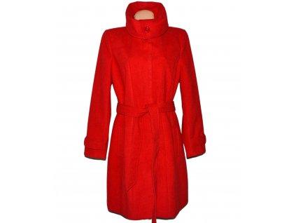 Dámský červený dlouhý kabát s páskem F&F 20/48