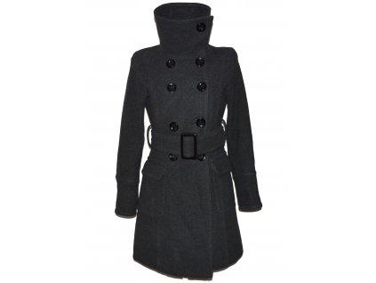 Dámský zimní šedý kabát s páskem GOODFRIENDS M