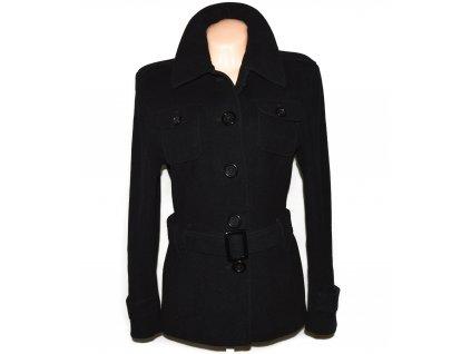 Vlněný (70%) dámský černý kabát s páskem TOM TAILOR (vlna, kašmír) L/XL