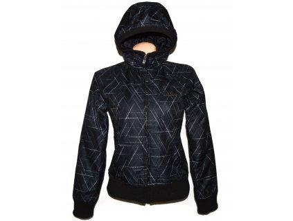 Lyžařská dámská černá bunda s kapucí ALPINE PRO S