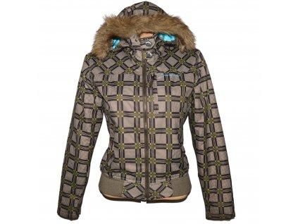 Dámská hnědá zimní bunda s kapucí ALPINE PRO S