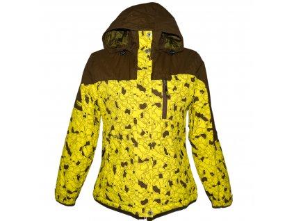 Lyžařská dámská žlutá bunda s kapucí LOAP M