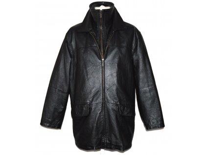 KOŽENÁ pánská černá zateplená měkká bunda na zip Authentic L/XL