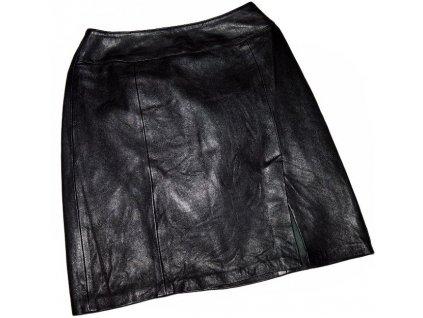 KOŽENÁ dámská černá sukně PRINCIPLES UK 10