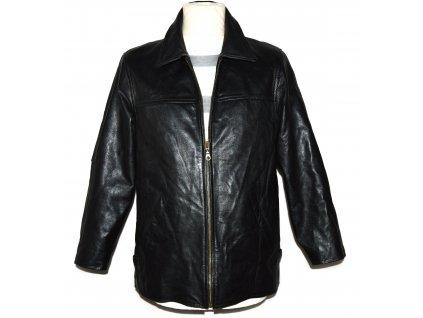 KOŽENÁ pánská černá měkká bunda na zip Brixton S