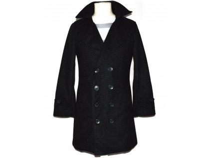 Pánský černý dvouřadý kabát Owind S - s cedulkou