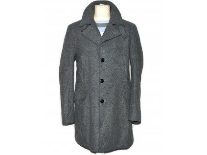 Vlněný (80%) pánský šedý kabát 54