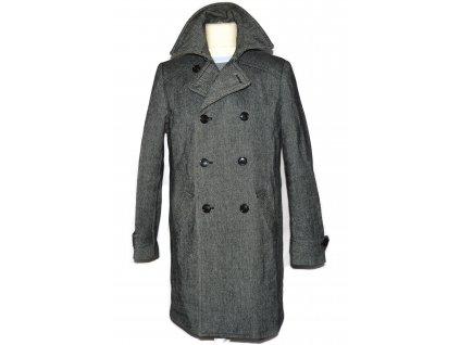 Vlněný (70%) pánský dlouhý kabát H&M 52