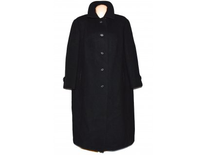 Dámský černý nadměrný dlouhý kabát Triola XXXXL