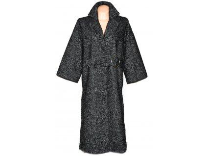 Vlněný dámský černobílý kabát s páskem RESERVED 36