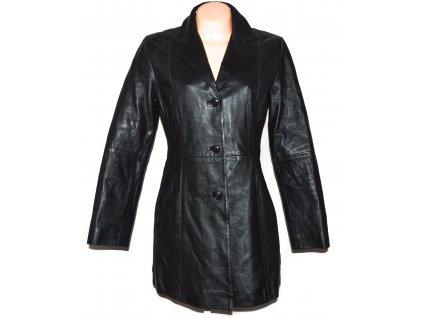 KOŽENÝ dámský černý kabát GIPSY L
