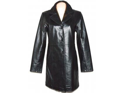 KOŽENÝ dámský černý měkký kabát CALYPSO 40