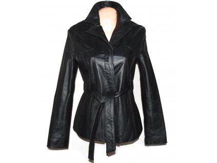 KOŽENÝ dámský černý měkký kabátek Florence+Fred L