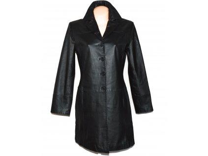 KOŽENÝ dámský černý měkký kabát FOR WOMEN 12/38