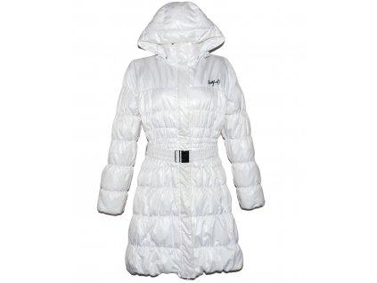 Dámský prošívaný bílý zateplený dlouhý kabát s páskem Northfinder XXL