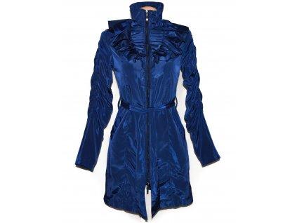 Dámský modrý kabát na zip s páskem BODYFLIRT 8/34