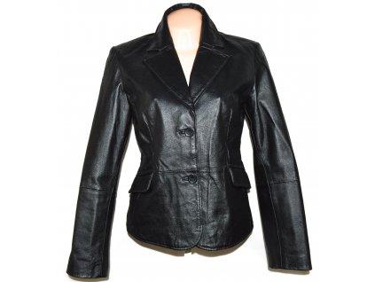 KOŽENÉ dámské černé měkké sako AMISU 42
