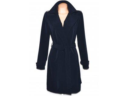 Dámský modrý dlouhý kabát s páskem ORSAY 42