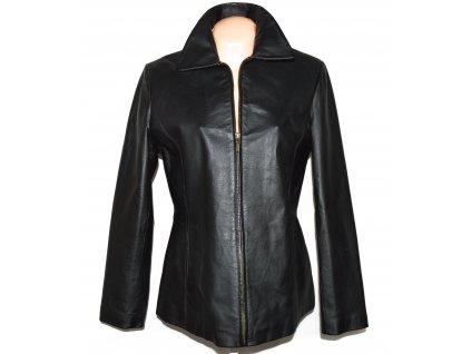 KOŽENÁ dámská černá měkká zateplená bunda na zip Kožešiny Trutnov 40