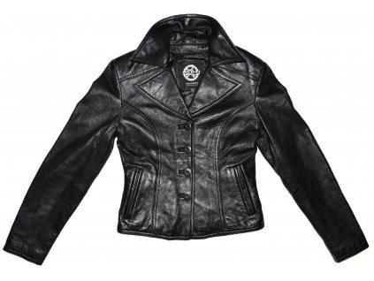 KOŽENÉ dámské černé měkké sako Wilsons Leather XS