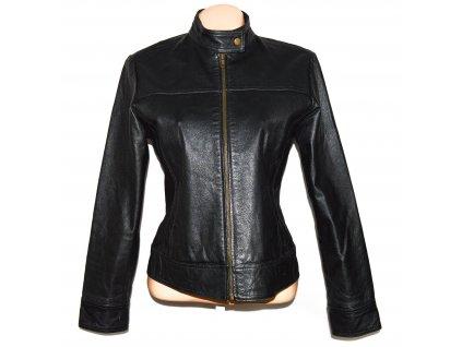 KOŽENÁ dámská černá měkká bunda na zip Joie de Vivre L