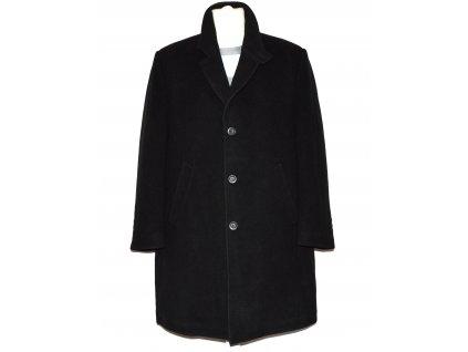 Vlněný (80%) pánský černý zateplený kabát XXL - 58 (vlna, kašmír)