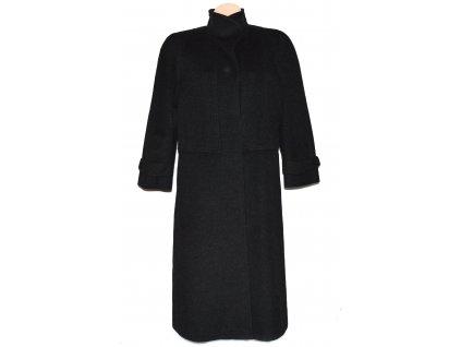 Vlněný (90%) dámský dlouhý šedočerný kabát Hensel Mortensen (vlna, kašmír) XXL