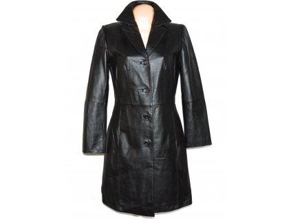 KOŽENÝ dámský černý měkký kabát Fashion Concept L