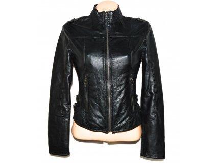 KOŽENÁ dámská černá měkká bunda Rino Pelle 36