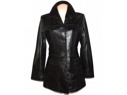 KOŽENÝ dámský černý měkký kabát JON DOE S/M
