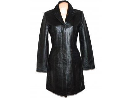 KOŽENÝ dámský černý měkký kabát AMARANTO M