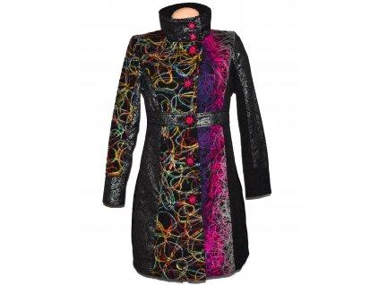 Extravagantní dámský barevný vzorovaný kabátj 101 Idees M
