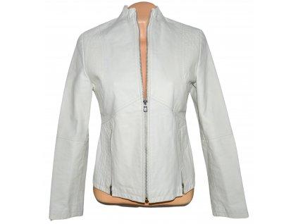 KOŽENÁ dámská bílá bunda S