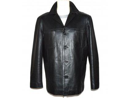 KOŽENÁ pánská černá měkká bunda VICTOR XXL