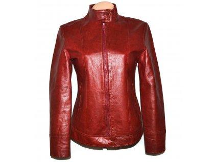 KOŽENÁ dámská červená bunda na zip C&A - Canda 10/36