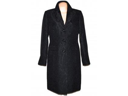 Dámský černý dlouhý kabát s ornamenty BARISAL 38