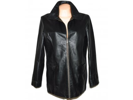 KOŽENÁ dámská černá měkká bunda na zip YOURS XL