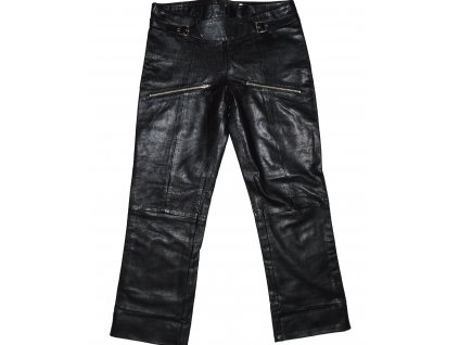 KOŽENÉ dámské měkké černé kalhoty Please M/L