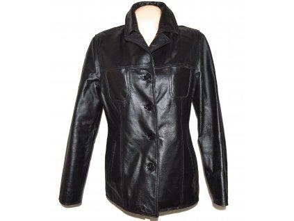 KOŽENÁ dámská černá měkká bunda STEFFEL 42